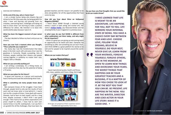 """""""Shine On Hollywood"""" Magazine"""