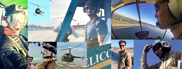 Actor Justin Ellis-Johnson as a Helicopter Pilot