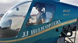 Justin as a Helicopter pilot