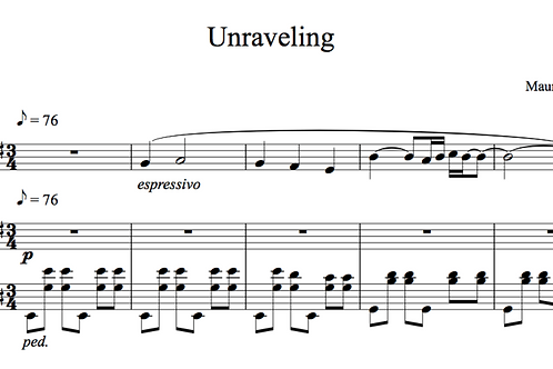 Unraveling for Violin and Piano