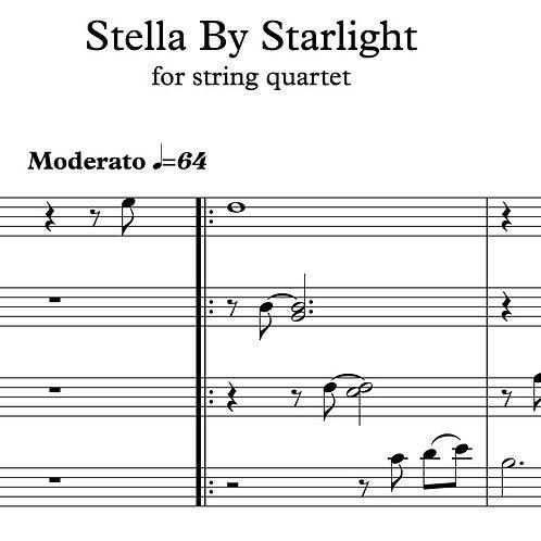 Stella By Starlight for String Quartet