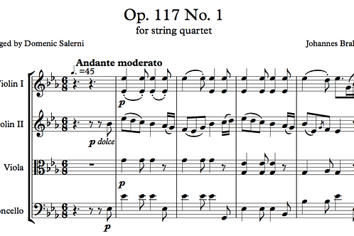 Brahms Op. 117 No. 1 for String Quartet
