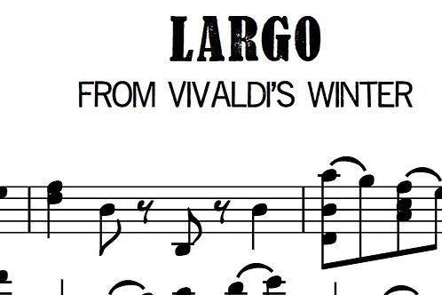 """Largo from Vivaldi's """"Winter""""  Arranged for solo violin"""