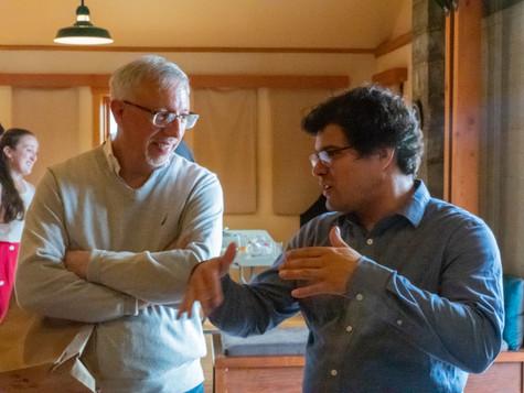 Mid-conversation with composer Miguel del Aguila AC 2019