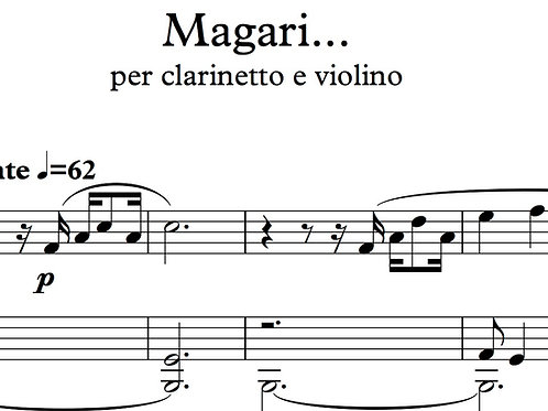 Magari... for clarinet and violin