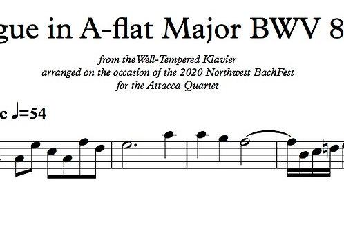 Bach Fugue in A-flat Major BWV 862 for String Quartet