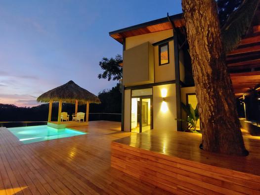 Sunset time at Villa Casana