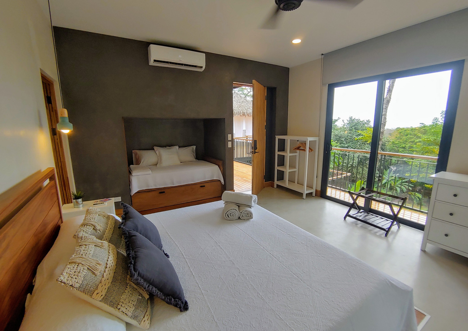 Room 2, with King Size Bed &  2 Single Beds