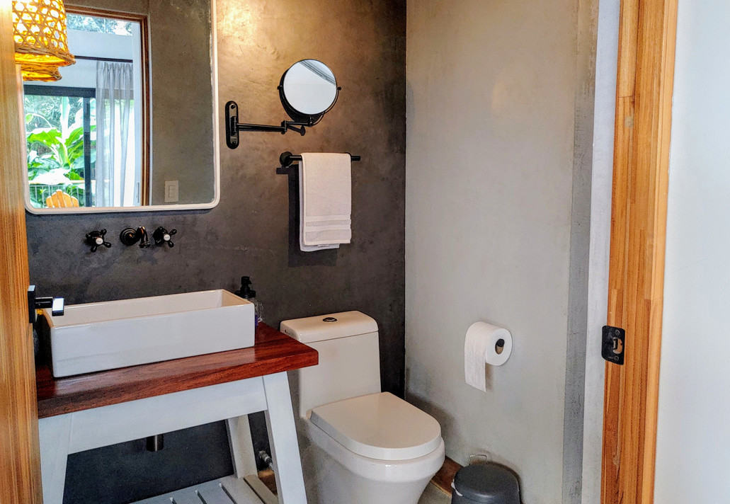 Guest Bathroom in Living Room & Kitchen Area