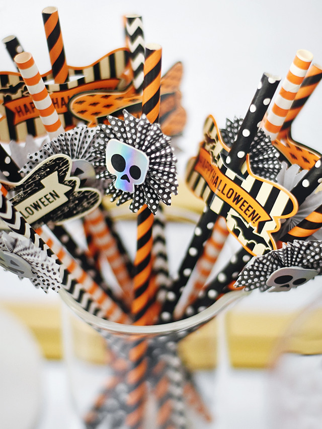 Decorative Halloween Straws