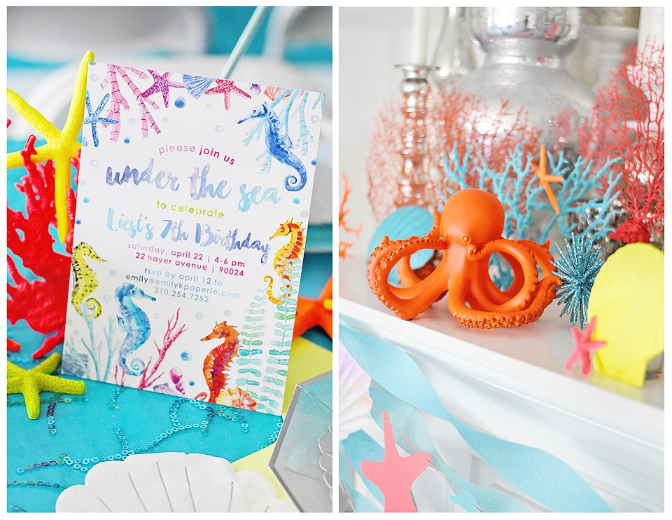 Under the Sea Invite from Emily Entertains Etsy Shop