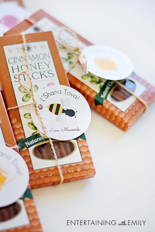 Cinnamon honey sticks for teacher gifts