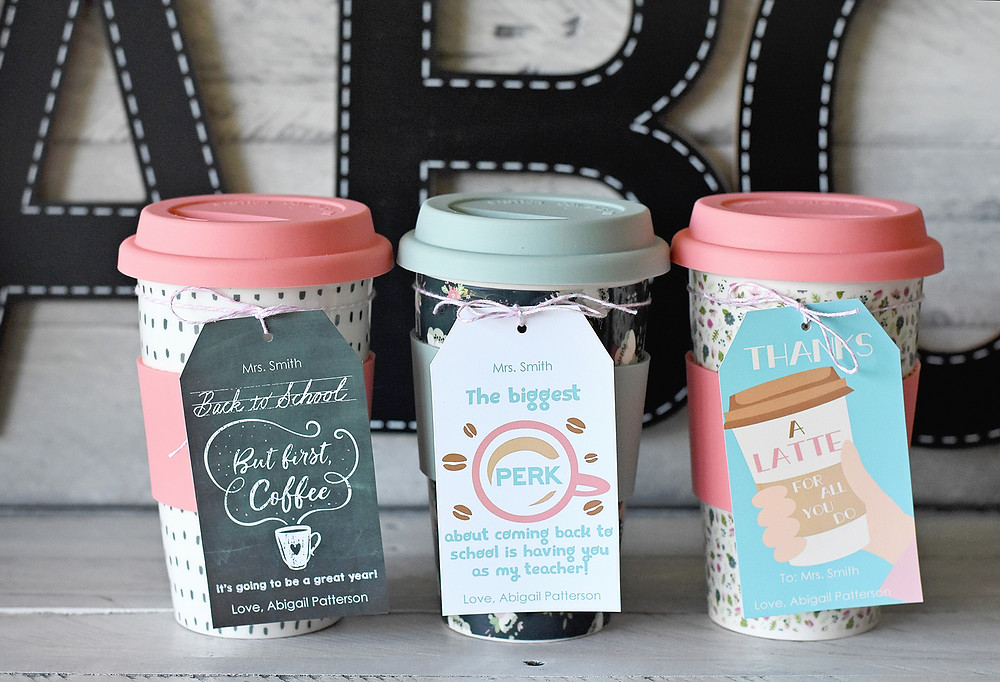 Coffee Themed Gift Tags are even editable by YOU!