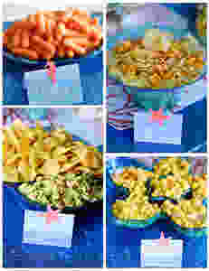Food Buffet Table - with and Under the Sea Twist!