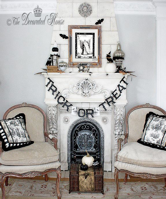 black and white via the decorated house
