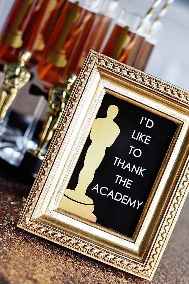 I'd Like to Thank The Academy Printable Sign