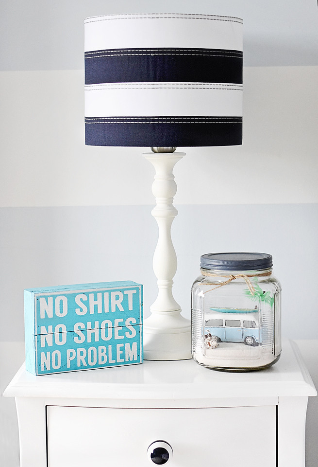 DIY VW mason jar project for Mav's nightstand!