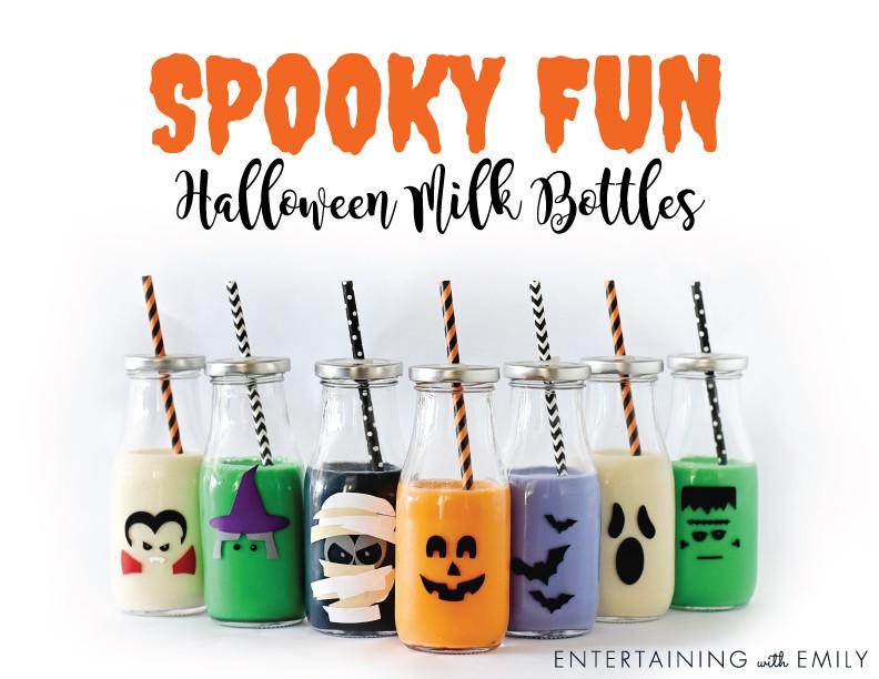 Halloween Milk Bottles - Spooky Fun!