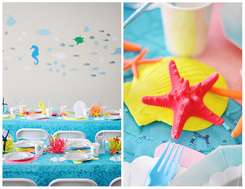 Party decor also featured vinyl wall decals!
