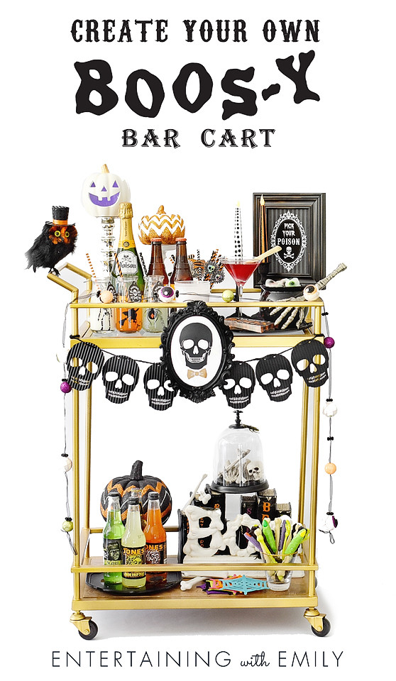 Create a Boos-y Bar Cart this Halloween!