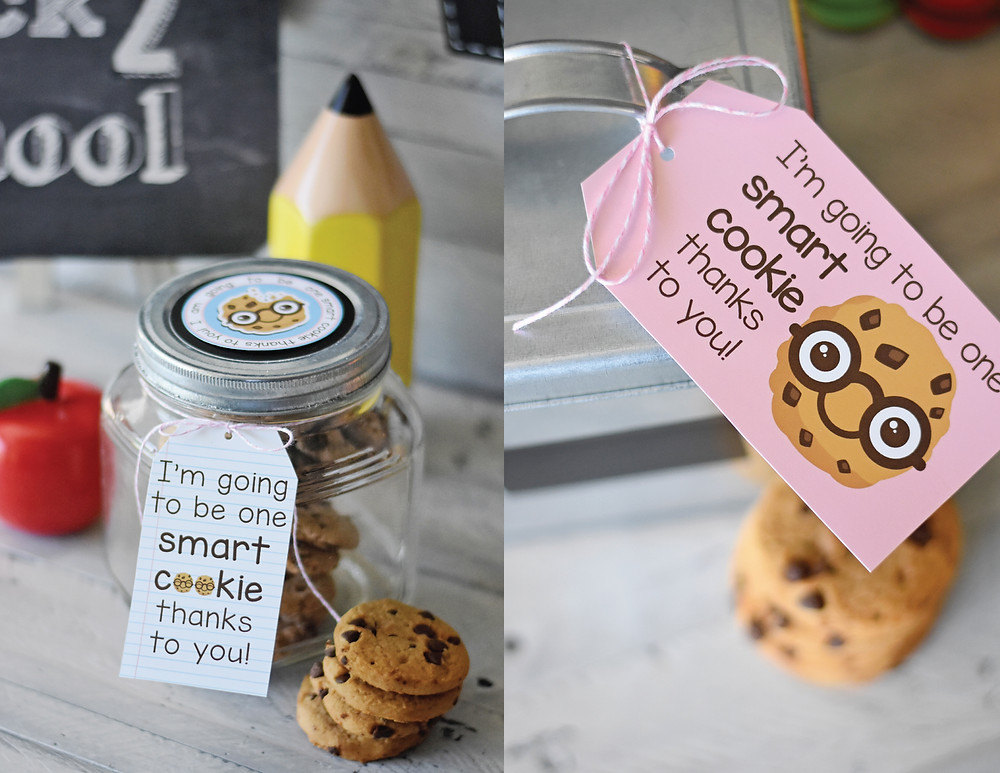 Smart Cookie Teacher Gift Tags for the First Day of School!