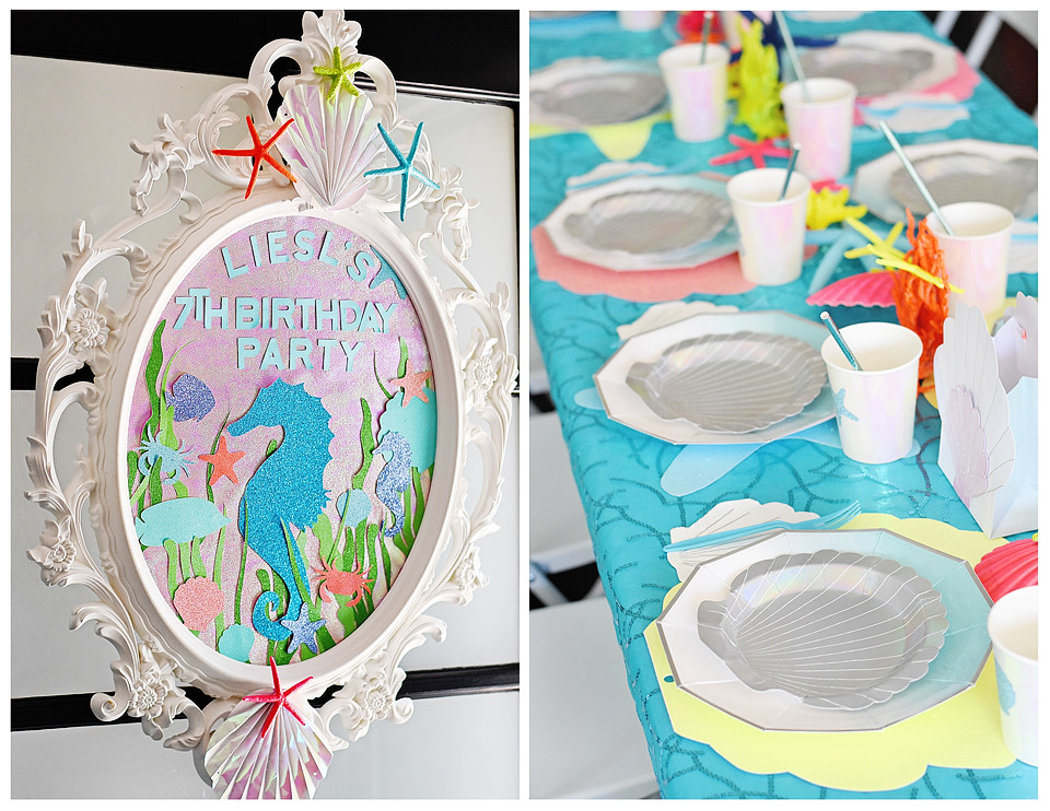 Liesl's Under the Sea Bash 7th Birthday Party