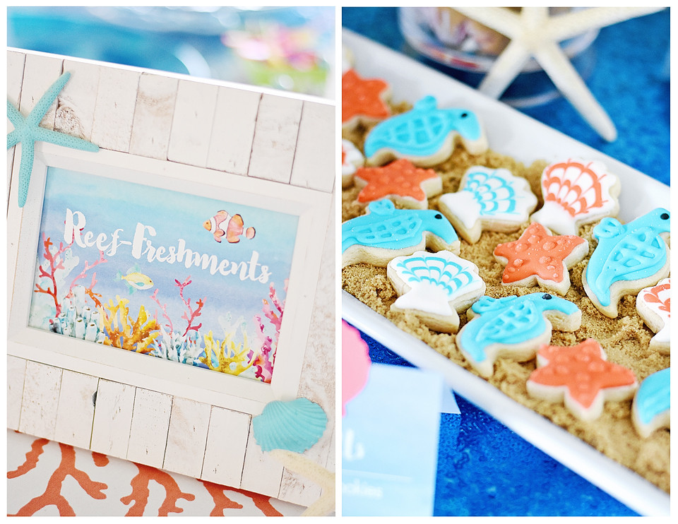 Reef-Freshments for and Under the Sea party!