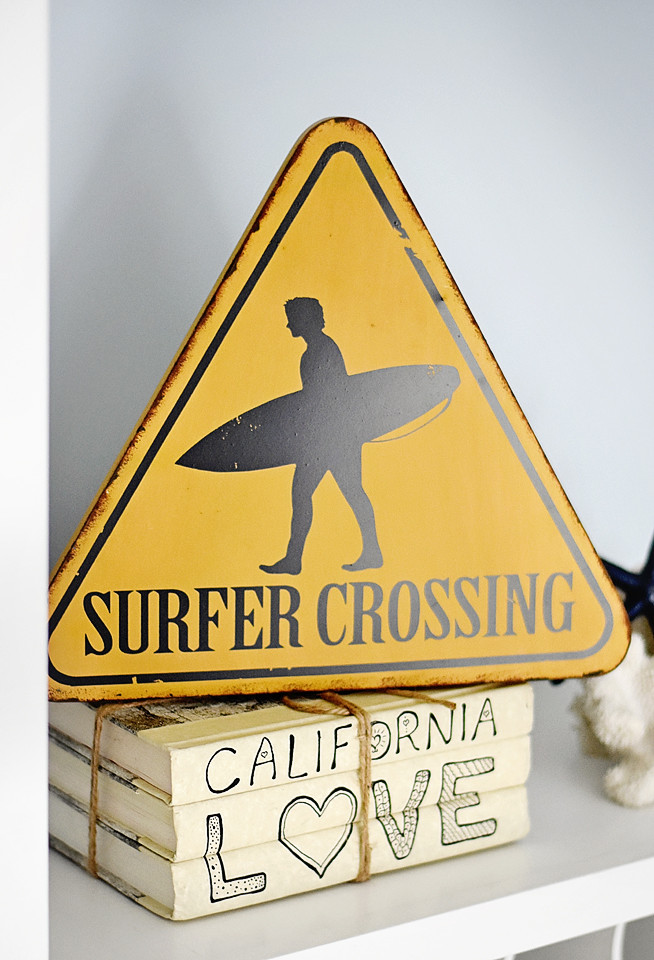 Surfer Crossing sign from World Market