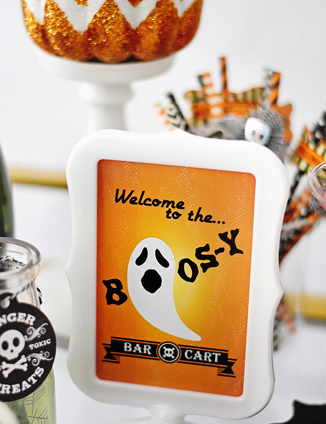 Boos-y Bar Cart - Free Printable!