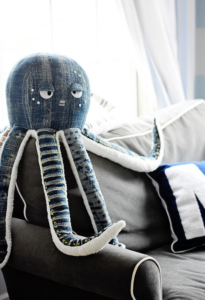Plush octopus from Pottery Barn Kids