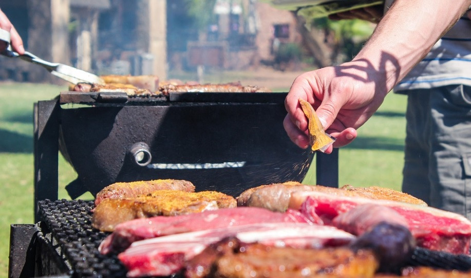 Un barbecue Braai en Afrique du Sud