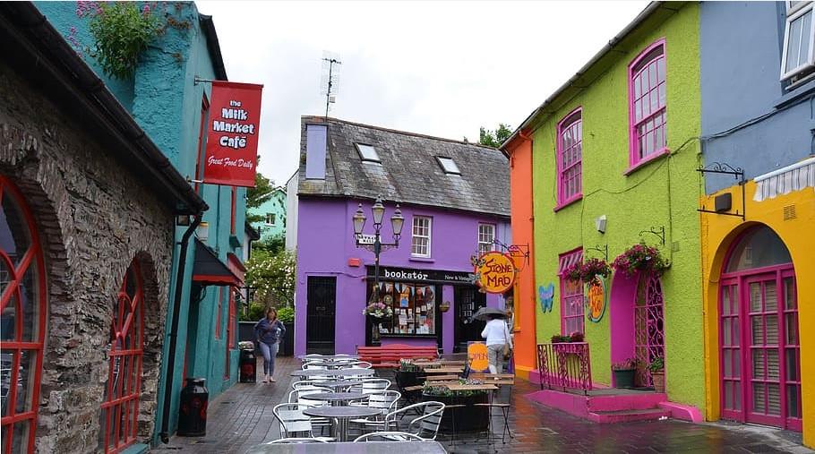 Maisons colorées de Kinsale en Irlande