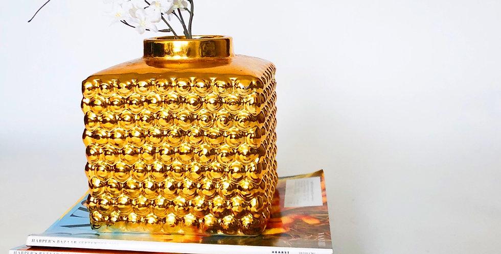 Glass Bubble Textured Vase