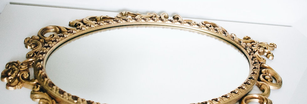 Vintage Gold Accent Mirror