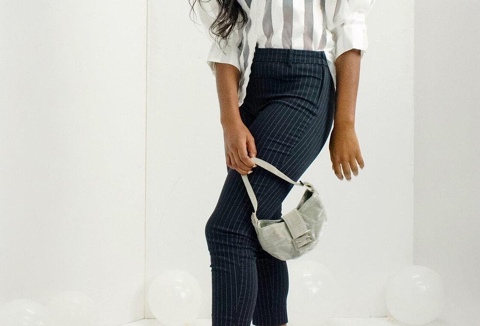 Pinstripe High-waist Pant