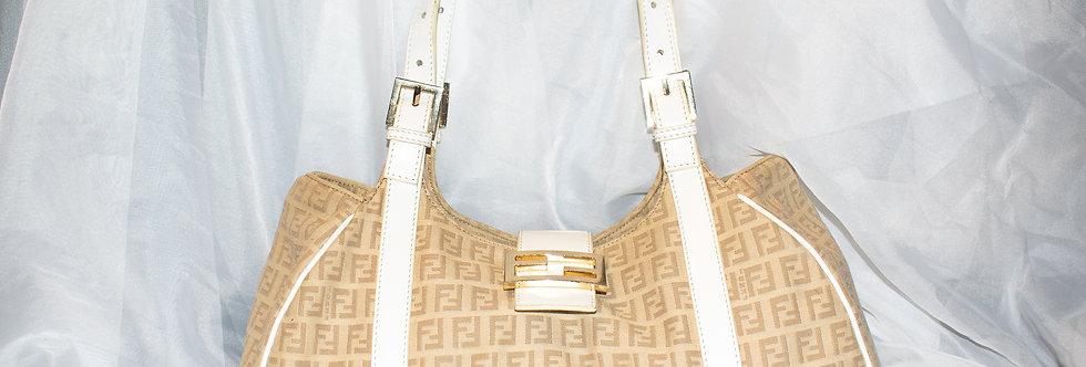 Fendi Zucca Monogram Canvas Shoulder Bag
