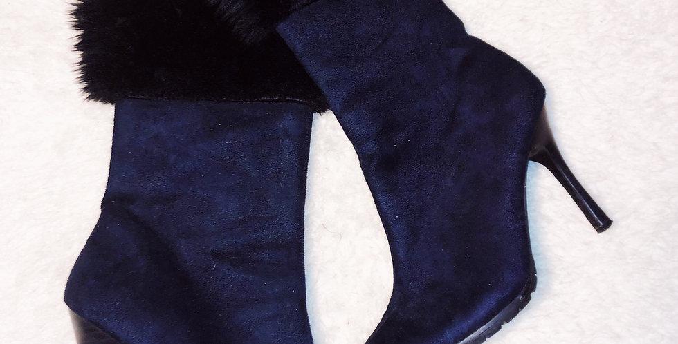 Fur Top Bootie Heels