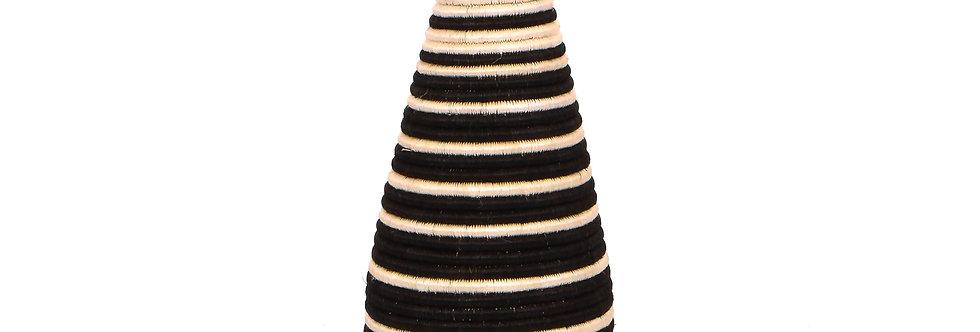 Black Striped Tall Vase