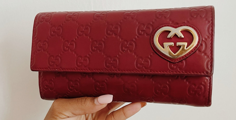 Gucci Cherry Monogram Wallet