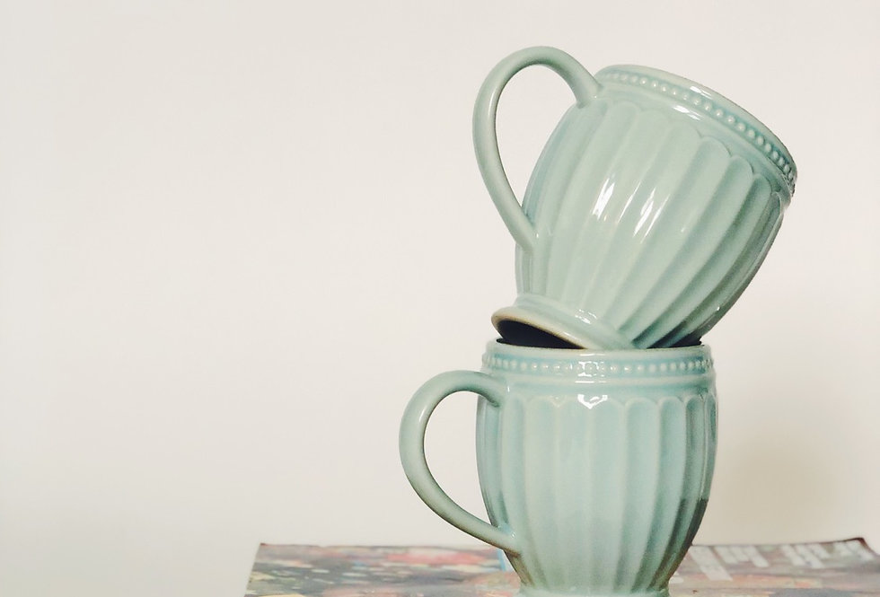 Periwinkle Blue Coffee Cups