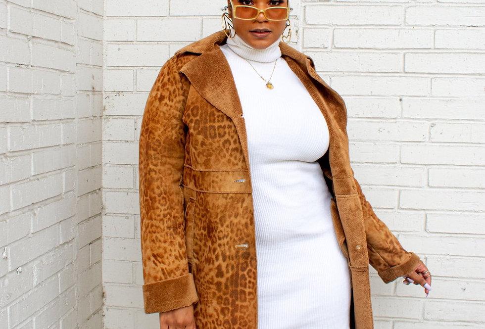 Heavy Print Cheetah Coat