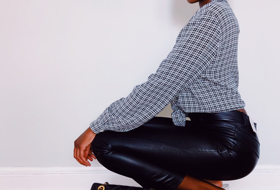 Plaid Light Weight Button Down Top