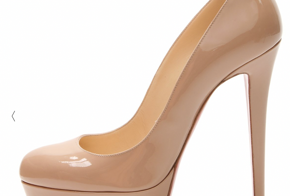 Christian Louboutin Nude Bianca Platform Heels