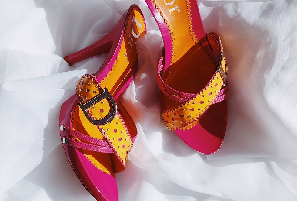 Christian Dior Colored Mules
