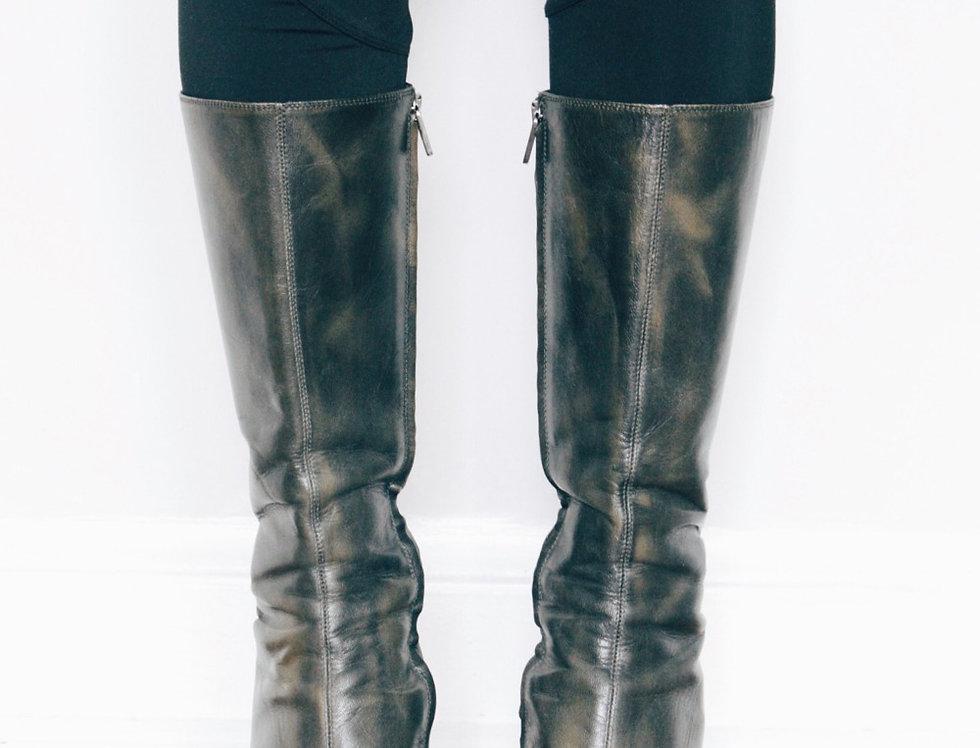 Vintage Fendi Leather Boots