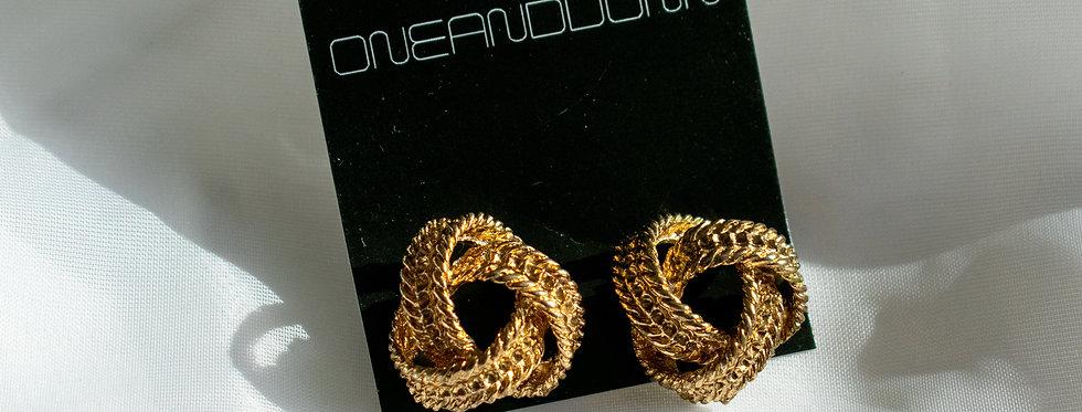 Vintage Braided Rope Earrings