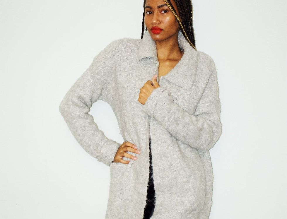 Wool Slit Cardigan
