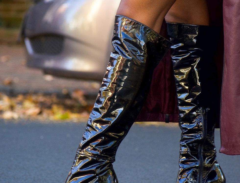 Stuart Weitzman Patent Leather Boots