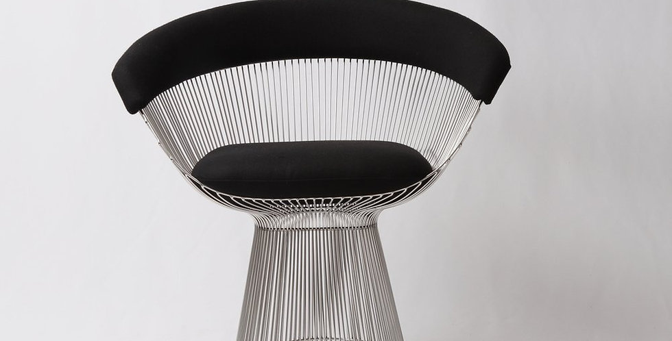 Lovise Wire Dining Chair - Upholstered in Cashmere Wool