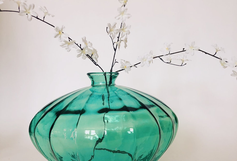 Emerald Oversized Glass Vase